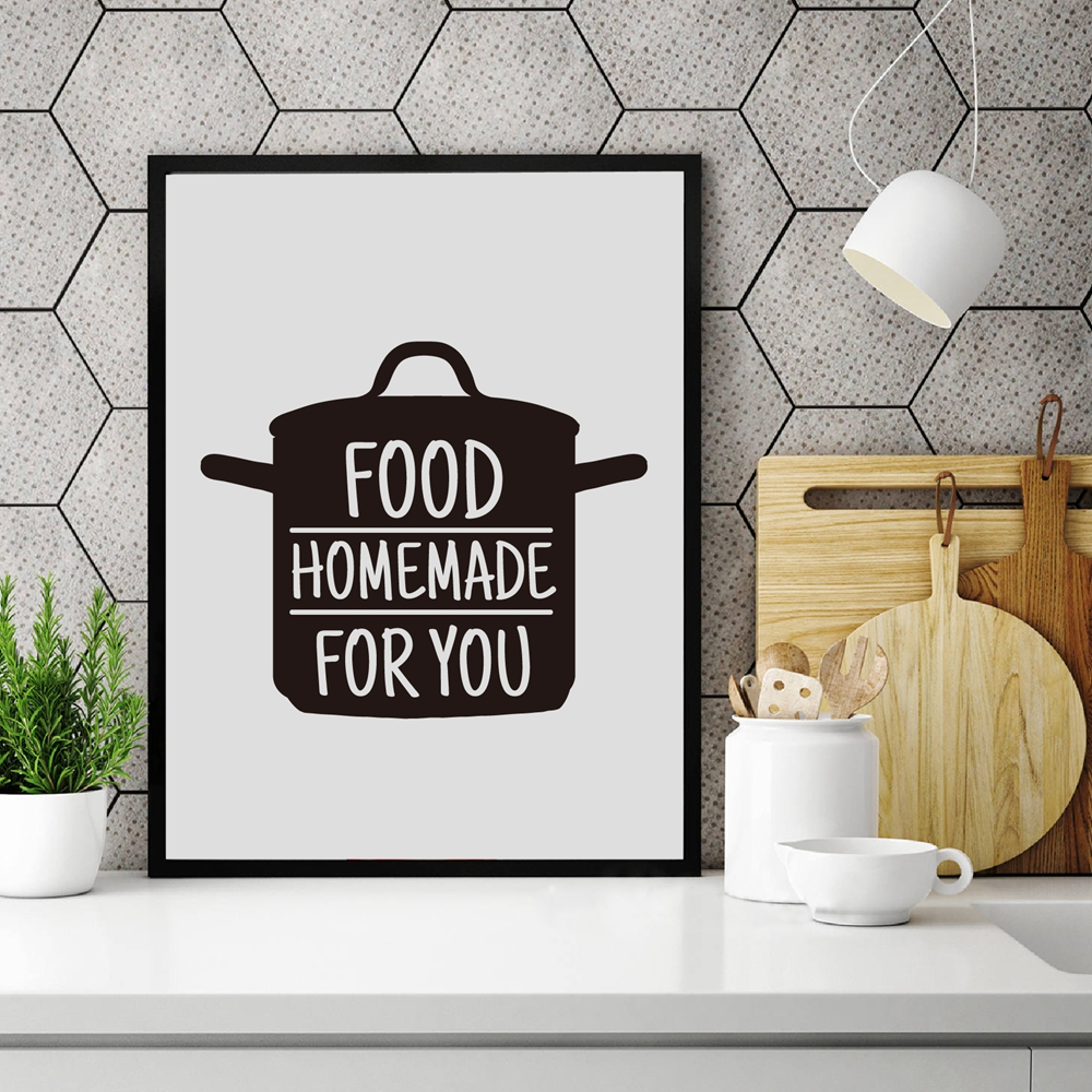 Cooking With Love Kitchen Quote Wall Art Prints And Poster