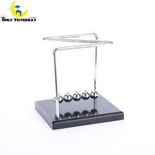 Early Fun Development Educational Desk Toy Christmas Gift Newtons Cradle Steel Balance Ball Physics Science Pendulum Newest NC-N