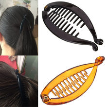 New Design Resin Banana Hair Comb Clip Lady Fish Folder Fishtail Clip Hairpin Headdress Hair Accessories(China)