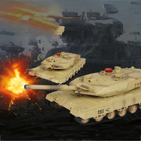 Remote Control Tank Toy Rotating Turret Full Scale Driving Simulation Sound Parent Child Interaction Battle Game Children's Toys
