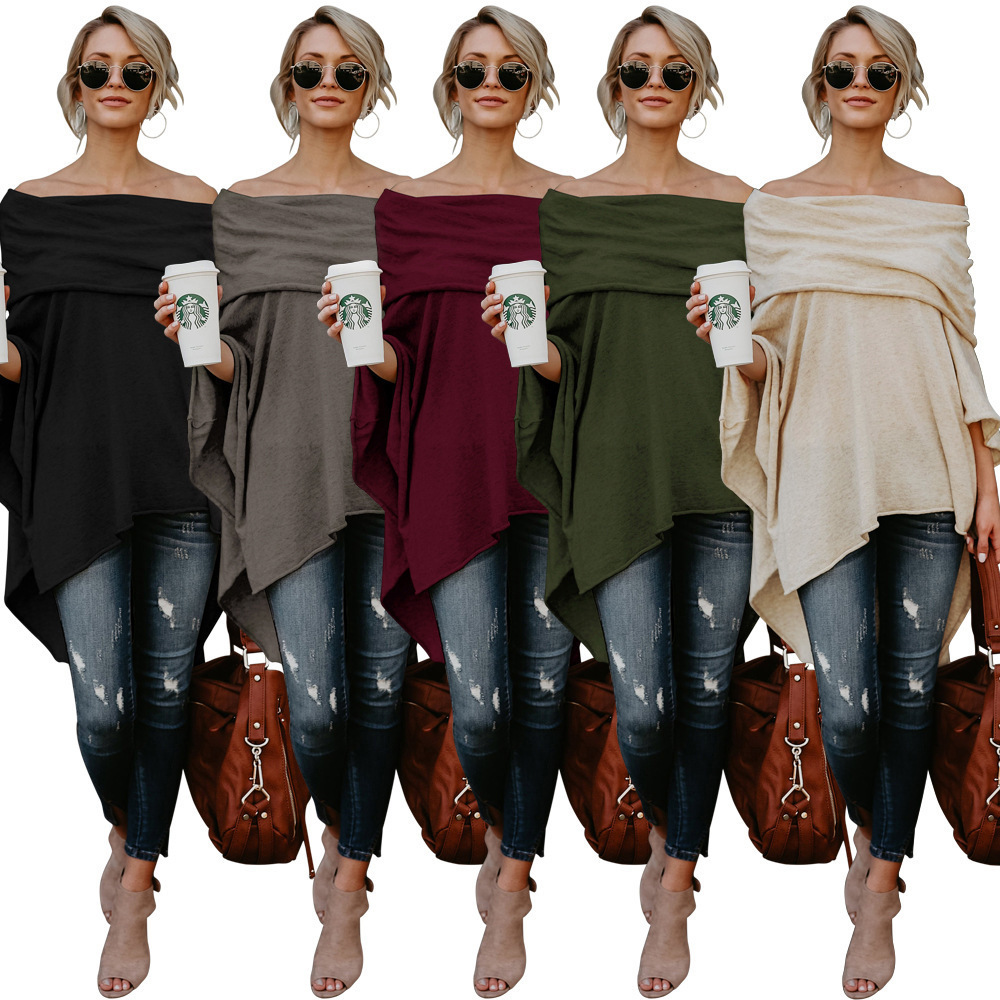 Fashion Strapless Shawl Women Blouse & Shirt Plus Size S-5XL Female Long Sleeve Blouse Elegant Lady Loose Tops Shirt