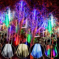 2019 Cadena de Navidad luz LED adornos árbol de Navidad decoración exterior decoración de Navidad para el hogar Navidad regalo de Año Nuevo 2020