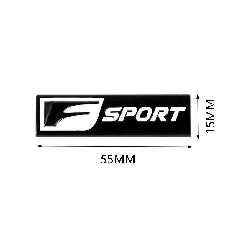 2 piezas F deporte 3D insignia de Metal calcomanía parte trasera emblema pegatina coche estilo para Lexus IS ISF GS RX ES IS250 ES350 LX570 CT200 CT200H
