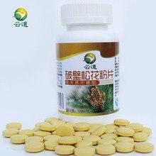 Бесплатная доставка 200 tab Чистый натуральный 500 мг/tab Урожая в отдаленных горных 99% Трещины Клеточной Стенки Пыльца Сосны