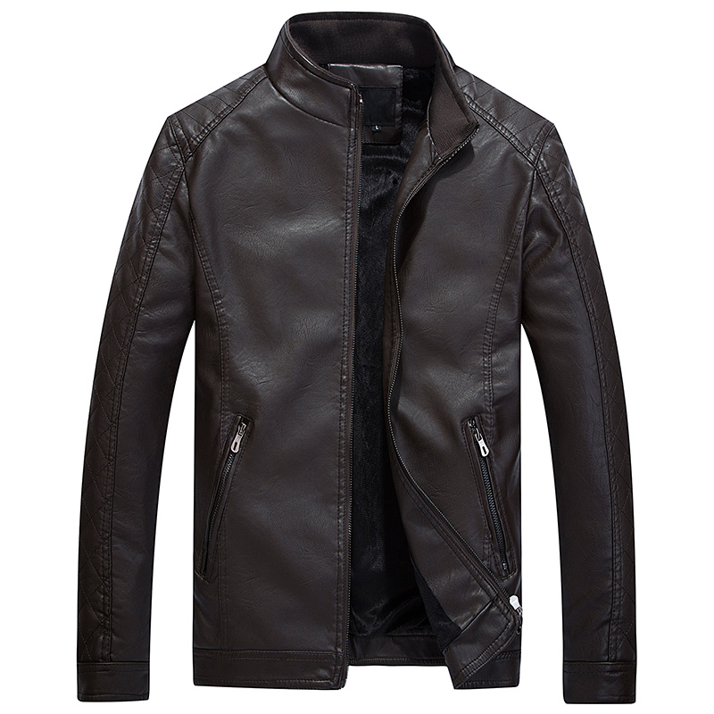2018 Autumn New Motorcycel Chaquetas De Cuero Hombre Slim Fit PU Biker Leather Jacket Men