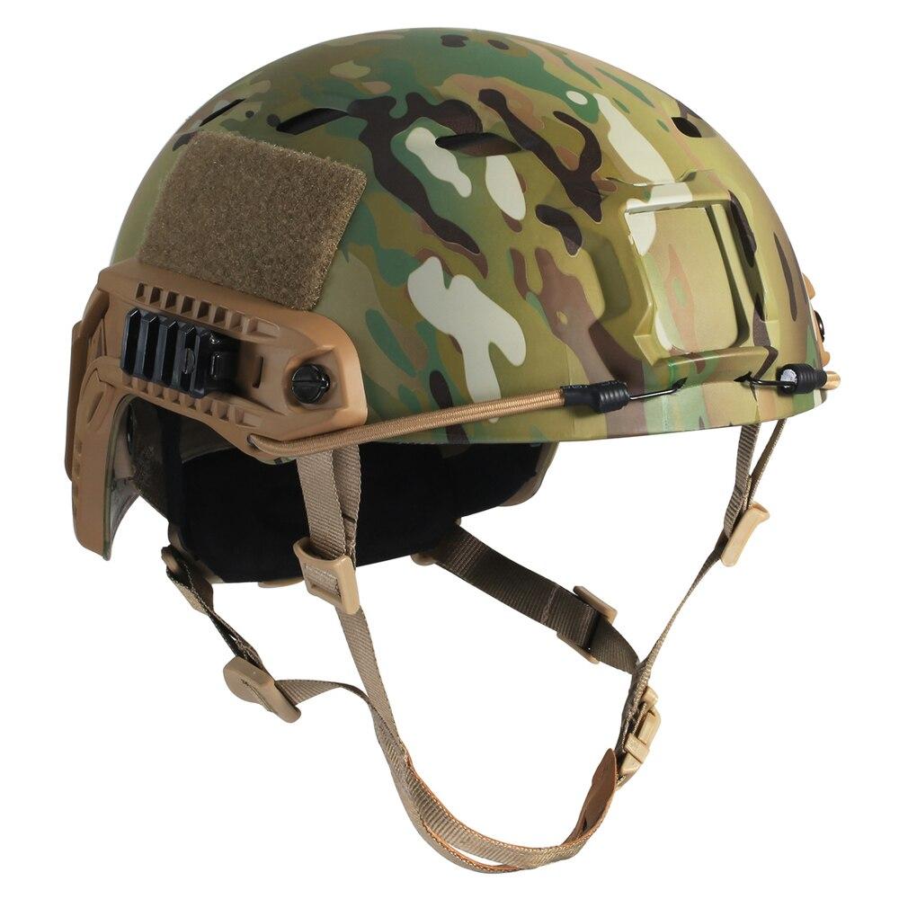 Тактический быстро шлем airsoft Пейнтбол военная игра камуфляж типа БЖ головы протектор