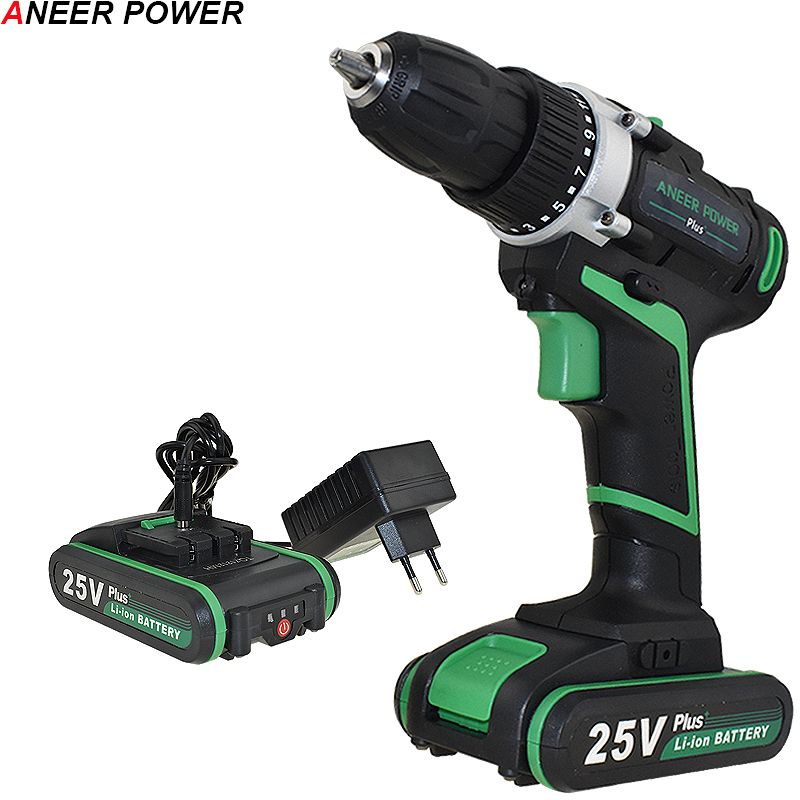 цена 25v Plus Drill Electric Drill Electric Batteries Screwdriver Cordless Drill Power Tools Drilling Mini Cordless Screwdriver