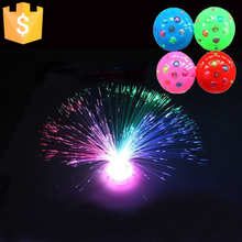 12pcs Free Shipping Childrens toys / Christmas colorful flash fiber optical starry sky light fluorescence flowers lamp