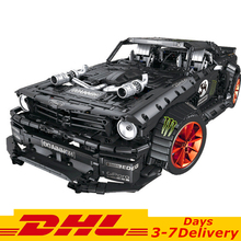 2019 New DHL Technic DIY Moc Mustang I Concept Sports Cars Building Blocks Kit Bricks Sets Classic Model Toys Gifts dhl lepin 05083 star classic wars moc series the nebulon b medical frigate set building blocks bricks funny toys model legoed