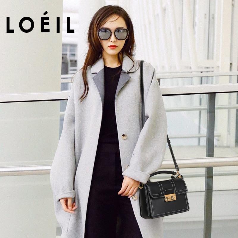 цена на LOEILBag female 2018 new leather handbags leather shoulder bag Korean version of the Messenger bag handbag small square bag tid