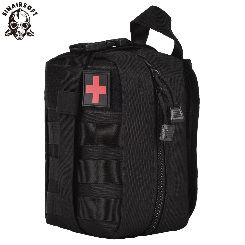 SINAIRSOFT Outdoor Tactical Medical Bags MOLLE Pouch EDC Survival Emergency First Aid Waist Pack RS0301