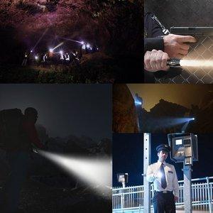 Image 5 - Тактический фонарь, фонарик 8000 лм, портативный водонепроницаемый фонарь с 5 режимами работы, с зарядным устройством 18650/AAA
