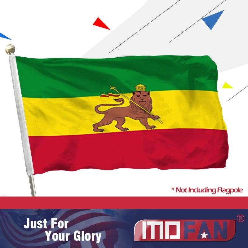 Ethiopia Lion African Ethiopian Small 3Ft X 2Ft Flag Banner Decoration Rasta