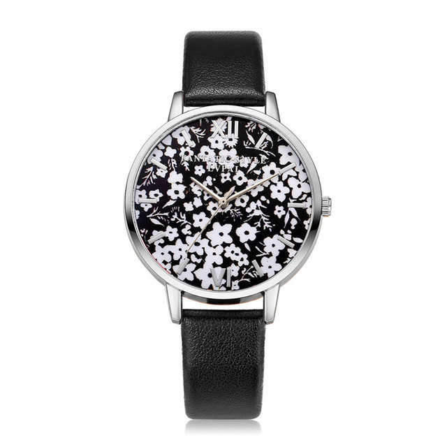 New Arrive Lvpai Famous Brand Vintage Silver Flowers Quartz WristWatches Women B