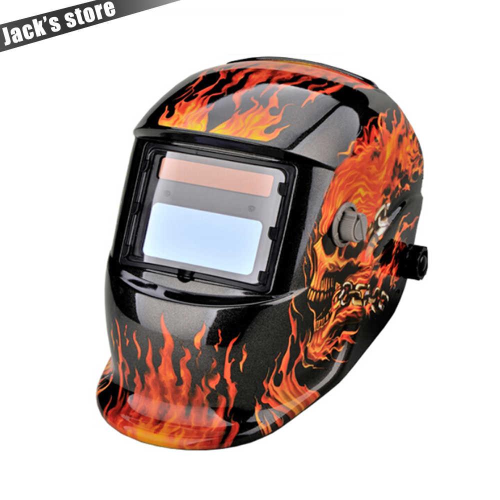 Солнечная Автоматическая затемнение MIG MMA электрическая Сварочная маска/шлем/сварочный колпачок/сварочный объектив для сварочного аппарата