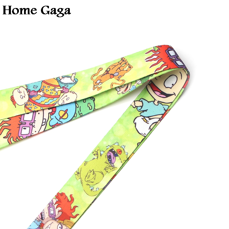 Homegaga Rugratg Gowild keychain lanyard webbing ribbon neck strap fabric para id badge phone holders necklace accessories D1140 in Webbing from Home Garden