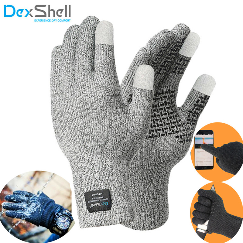Dexshell Coolmax Waterproof Gloves Touch screen Cut proof Men Fishing Climbing Outdoor Sports Skiing Working Watertight