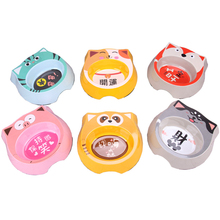 Pet Supplies Young Small Dog Bowl  Bowls for Food Feeder Cute Cat Plastic