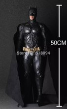 EMS Free Shipping Super Big Batman The Dark Knight Rises PVC Action Figure Collectible Model Toy 20″ 50cm