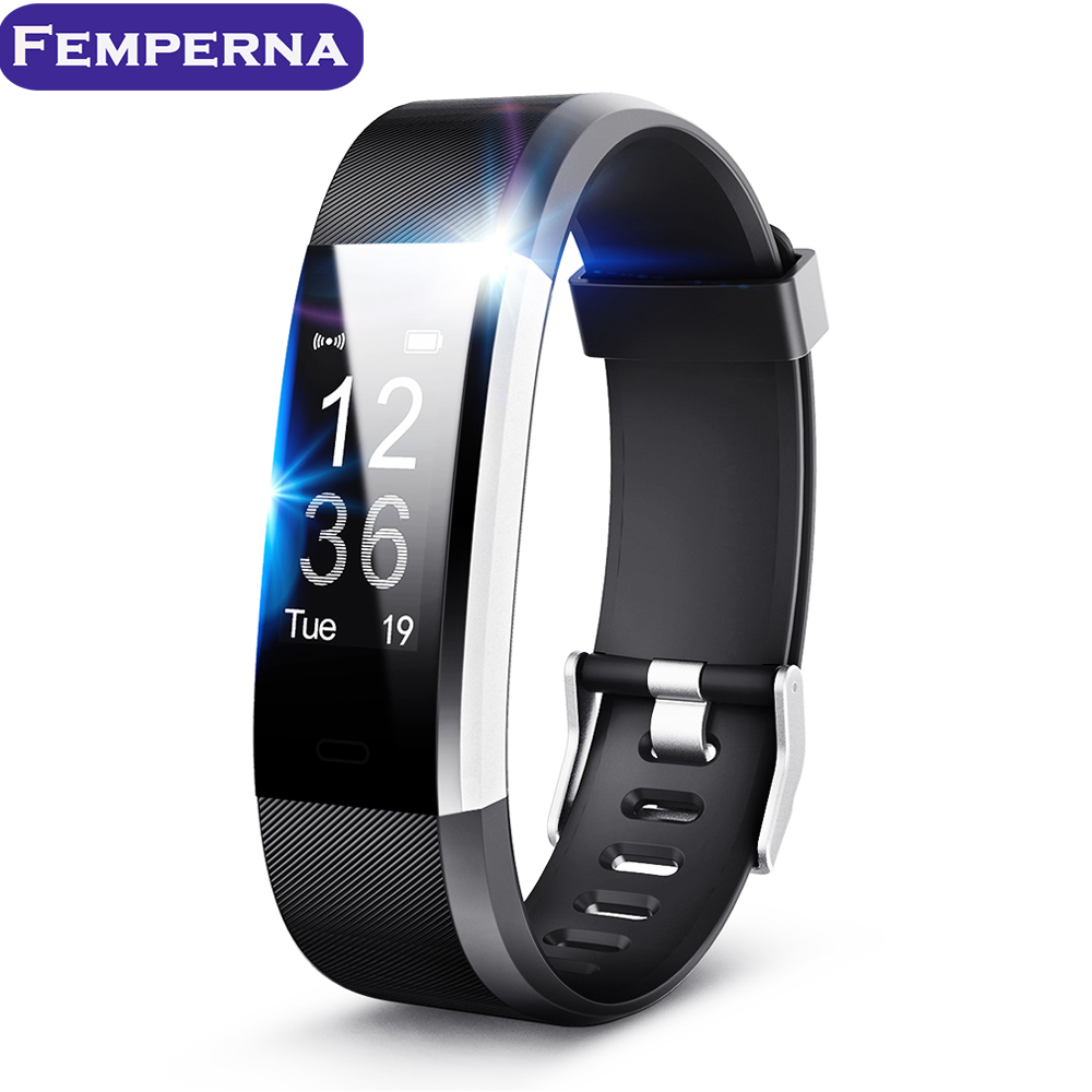 ID115HR Plus Smart Bracelet Activity Tracker Fitness Watch Step Counter Bluetooth Wristband Pedometer Heart Rate Band