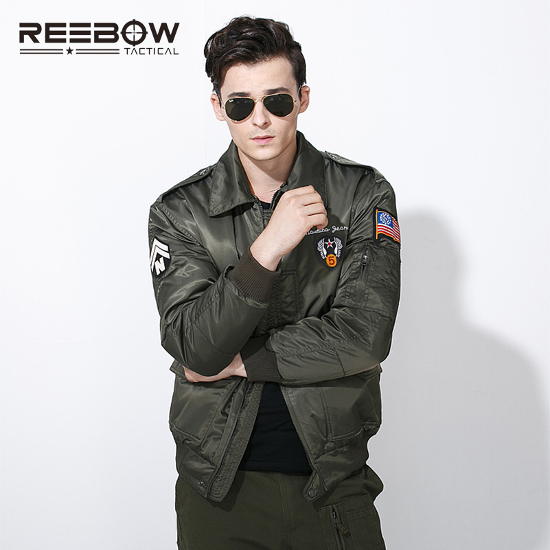 REEBOW TACTICAL Men Outdoor Military Bomber Jacket Autumn Winter Cotton Outwear Hunting Shooting Sports Airsoft SWAT Jacket men military tactical outdoor shirts 100% cotton breathable long sleeve shirt army multi pockets swat shooting urban sports