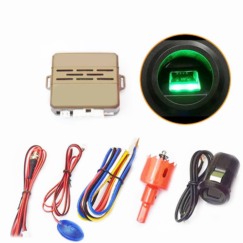 New One Button Fingerprint Start Engine Push Button Start Stop Switch Car Anti-theft Start System Keyless Entry System easyguard pke car alarm system remote engine start stop shock sensor push button start stop window rise up automatically