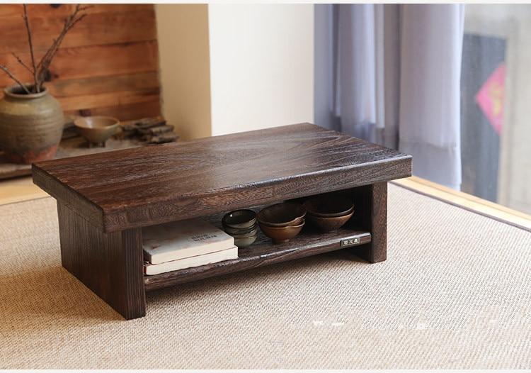 Design de móveis antigos orientais Japonês Piso Mesa De Chá - Mobiliário - Foto 6
