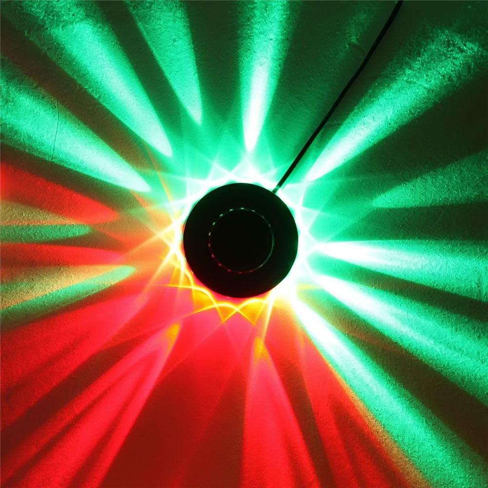 8w 48leds seven color sun pattern plastic stage lamp ac 90 240v - 1x 48 Leds Rgb Stage Light