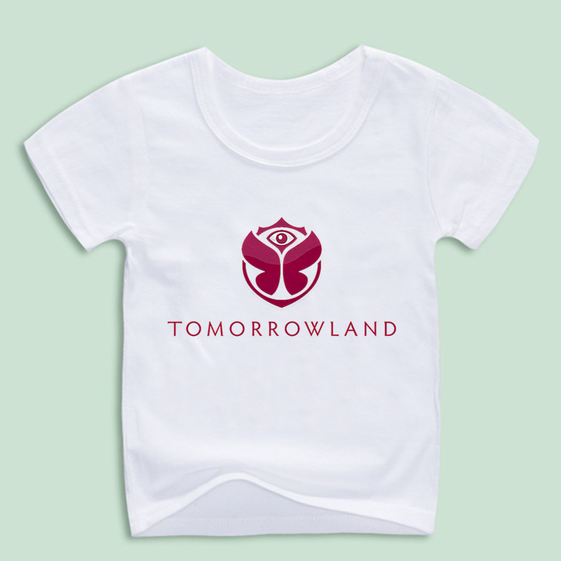 Boy and Girl Tomorrowland Print T-shirt Children Music Tops Tee Baby Rock Tshirts