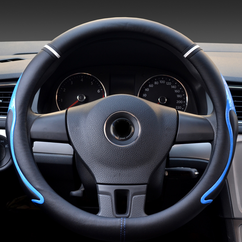 Automobile Steering Wheel Cover protection Auto interior supplies fashionable car Antiskid Comfortable cover of red white blue