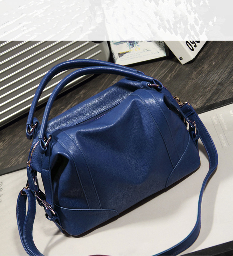60399bc3bb OLGITUM Hot Sale 2018 New Fashion Girl Bags Soft Leather Handbags Big Women  Bag Zipper Ladies Shoulder Bag HB132-in Shoulder Bags from Luggage   Bags  on ...