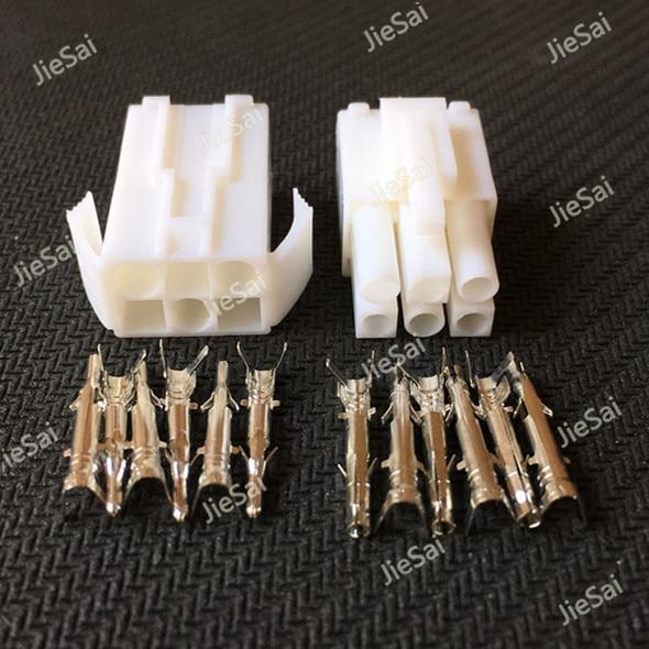 2 Sets EL6P 6 Way Connector Pitch 4.5mm Male Female Electrical Terminals EL-6P