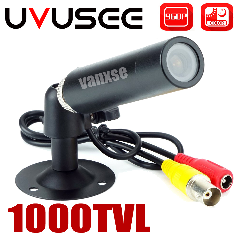 Uvusee CCTV 1/3 Sony CCD 1000TVL 3.6mm HD Mini Bullet Security Camera Surveillance with Bracket
