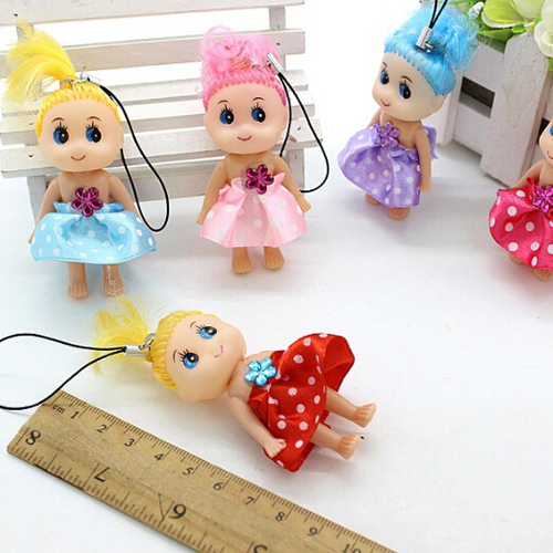 1pc Multicolor Mini Ddung Doll Best Toy Gift For Girl Confused Doll Key Chain Phone Pendant Ornament Random Color