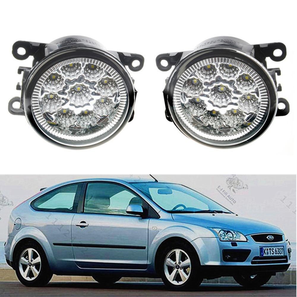For FORD FOCUS MK2 2004-2010 Car styling front bumper LED fog Lights high brightness fog lamps 1set promotion 6pcs 100