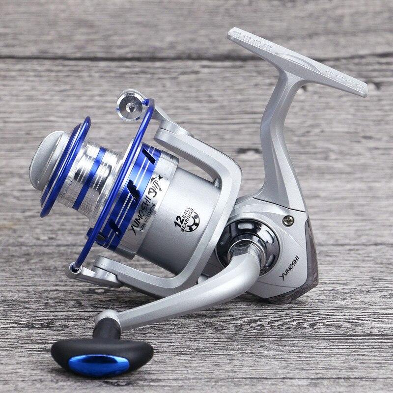 Super Cheap Spinning font b Fishing b font Reel 12BB Sea Boat Full Metal Head Brass