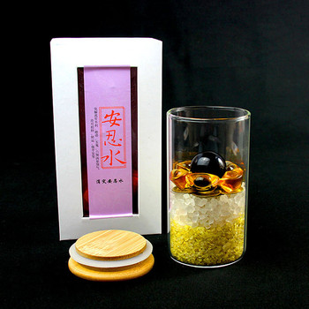 Divine King An Yongshui An Ren water feng shui ornaments five yellow two black crystal gravel six emperor money home decoration