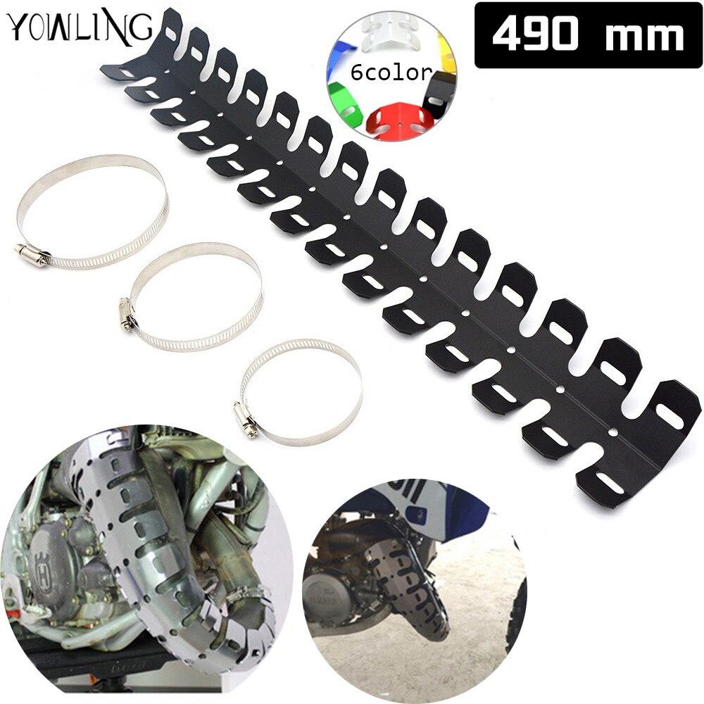 Steel Motorcycle Heat Shield Exhaust Muffler Pipe Cover Guard For Harley Honda Kawasaki Yamaha Black  Accessories