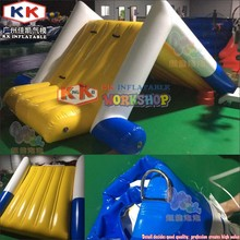 Mini inflatable floating slide for swimming pool / pool toys inflatable water slide games for kids