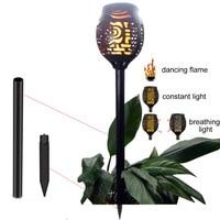4pcs/lot Solar 96LEDs Lawn Dancing flame Torch Lights radar 3 working mode Solar Lamp Gard to Landscape Garden Lamp Torch Li