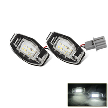 Factory Supply 18SMD Leds License Plate Lamp Light For Honda Jazz Easy Installation White Waterproof Tail Lights Source 12V