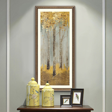 Modern Abstract Oil Painting Posters and Prints Canvas Wall Art Pictures Golden Trees for Living Room Decor No Frame