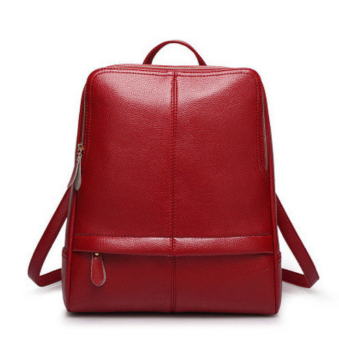 Fashion Backpack Pure Color Leather Backpack Fashion Bag Multiple Delivery Channels
