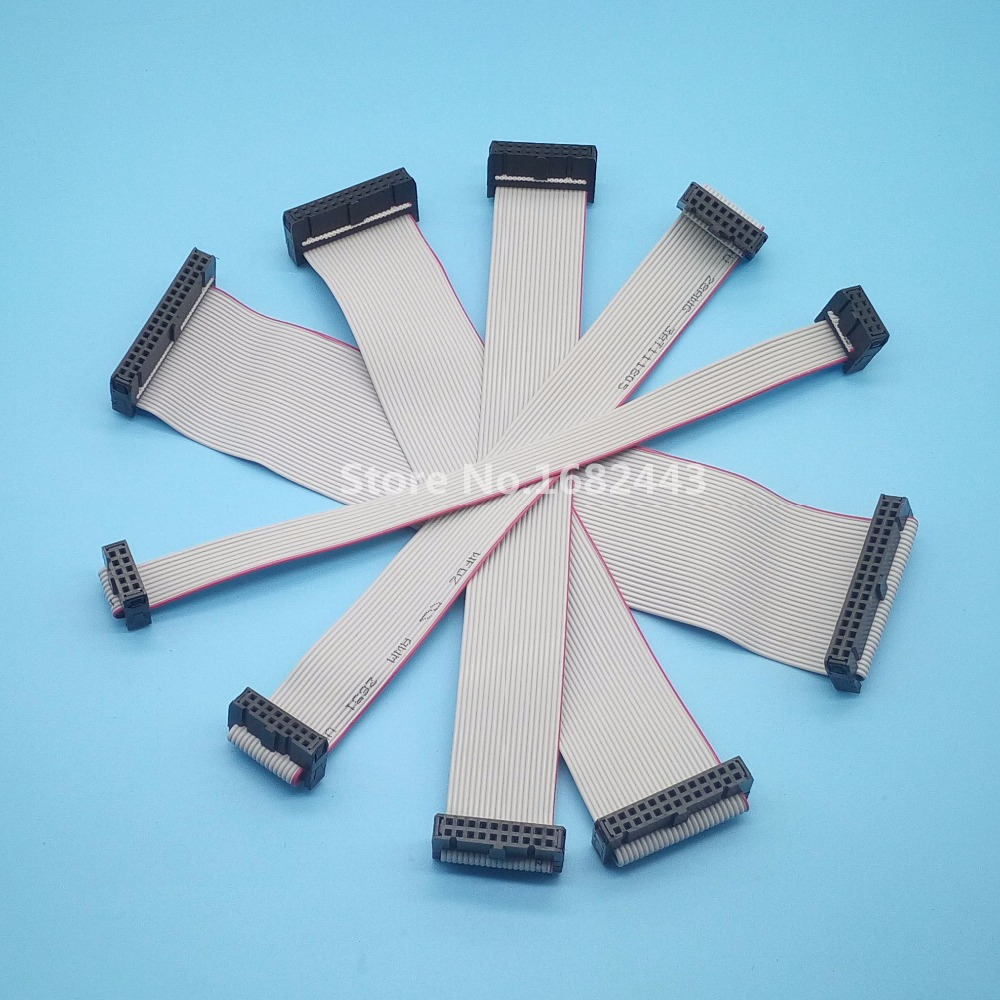 5Pcs FC-10P 14P 16P 20P 26P 34P 40P Gray Flat Ribbon Data Cable For LED display Pitch 2.54mm Lenght 10cm 20cm 30cm ...