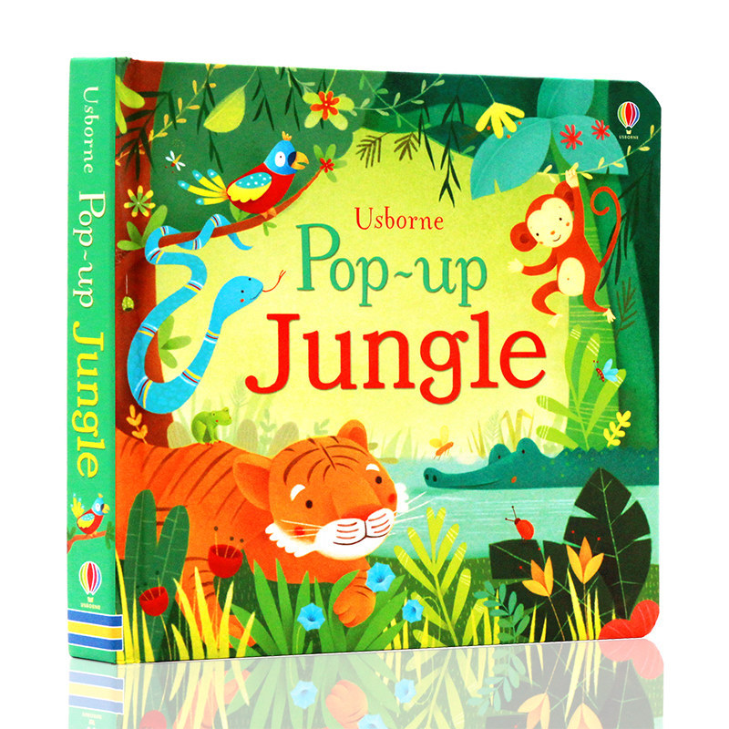 POP UP Jungle English Educational 3D Flap Picture Books Enchanted Forest Children Kids Reading Book