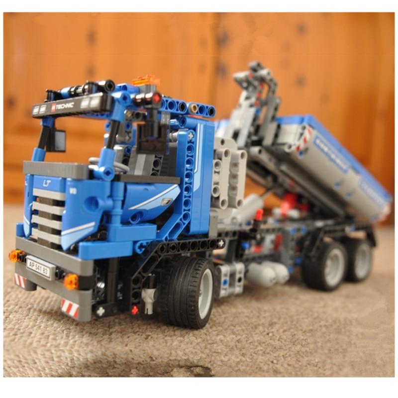 WAZ Compatible Legoe Technic Series 8052 Lepin 20027 720pcs Container Truck building blocks Figure bricks toys for children 0367 sluban 678pcs city series international airport model building blocks enlighten figure toys for children compatible legoe