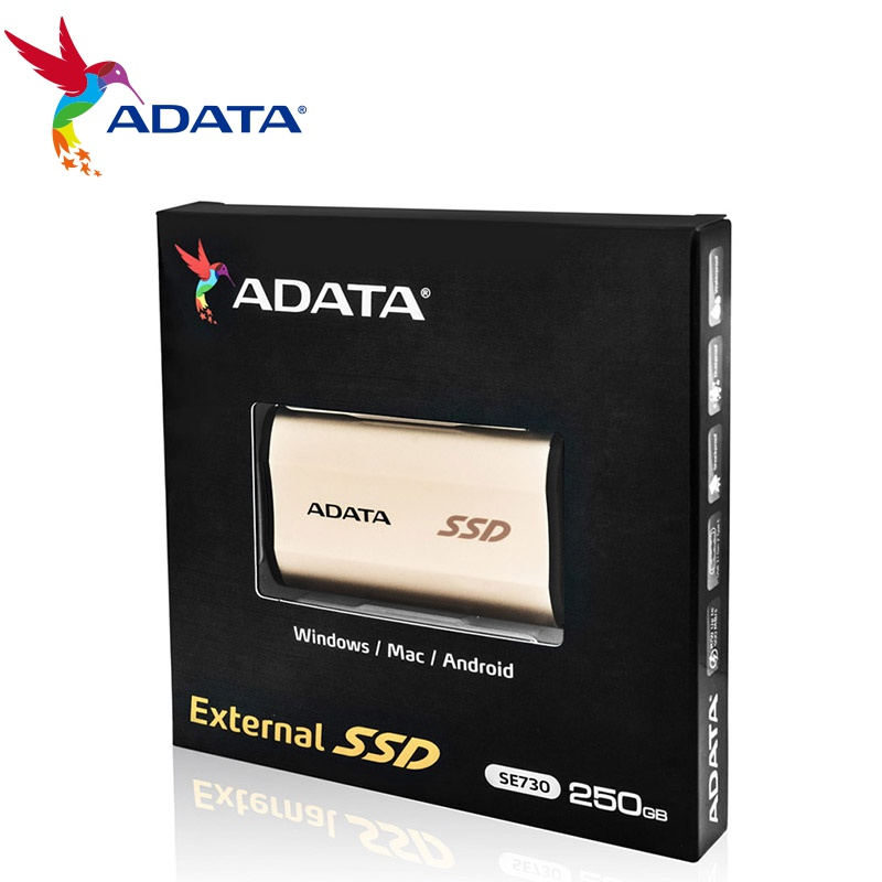 ADATA portable ssd type c EXternal hard drive 250G SSD USB 3.1 1TB 512G 3D NAND Flash for Windows Mac Android up to 500MB/S 5