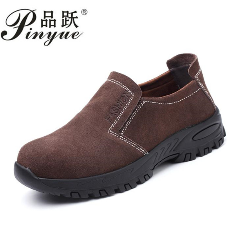 Steel Toe Safety Work Shoes Men 2018 Fashion Summer Breathable Slip On Casual Boots Mens Labor Insurance Puncture Proof Shoe halinfer men safety work shoes steel toe caps 2018 fashion casual breathable slip on safety boots puncture proof sneaker shoe