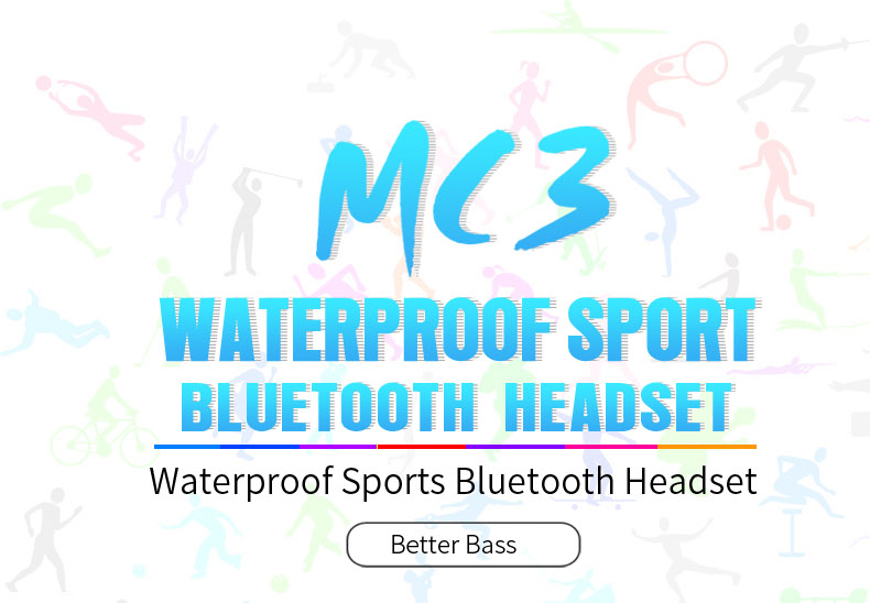 PLEXTONE BX240 Bluetooth Headset IPX5 Waterproof Headphones Wireless Sports Running Stereo Earpiece With Mic for iPhone Samsung