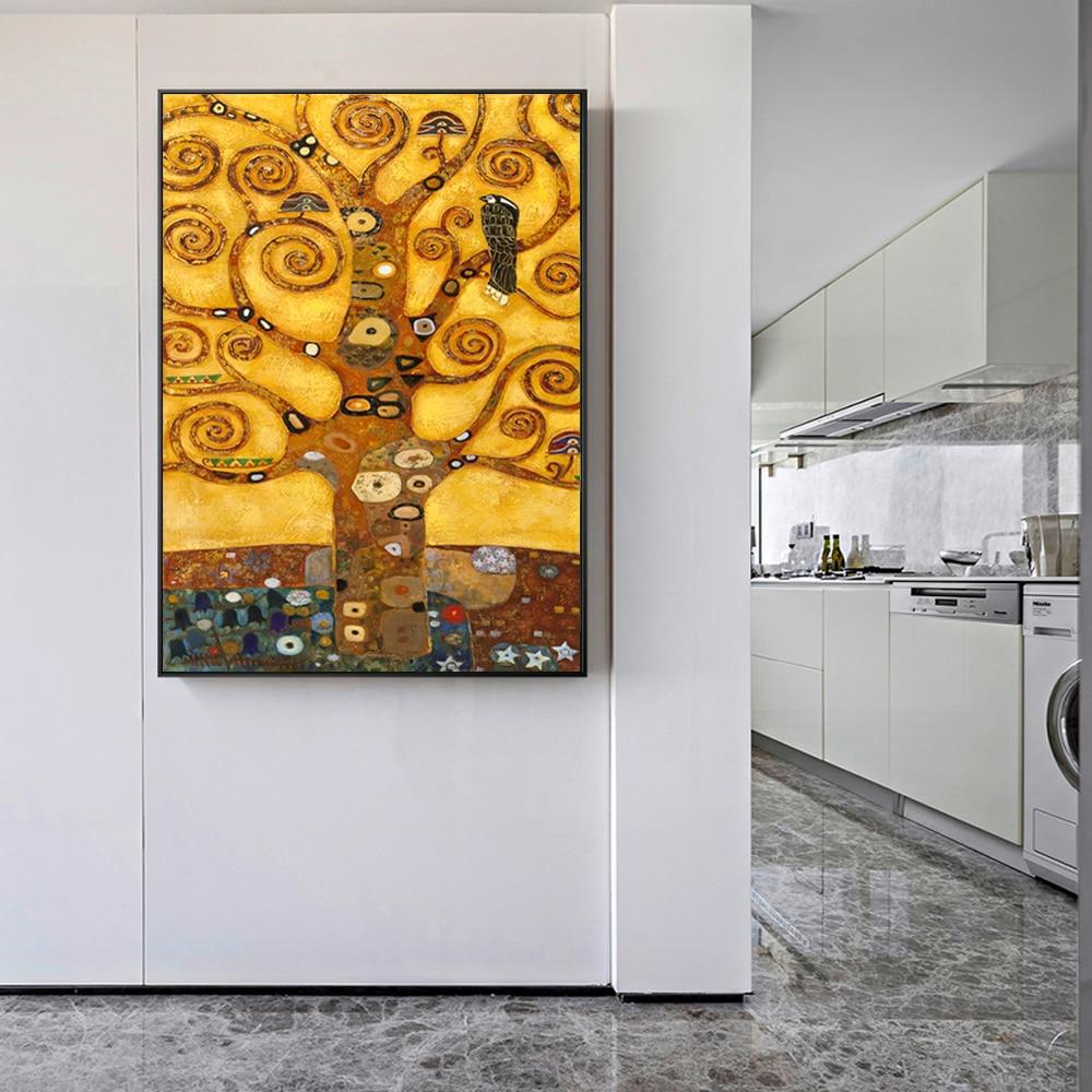 Zz1597 Wall Art Decoration Painting Gustav Klimt Big Tree: Gustav Klimt Tree Of Life Wall Art Canvas Prints Life Tree